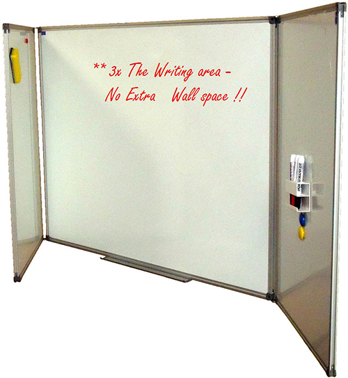 Hinged/Folding Whiteboards for real estate, sensitive data or more writing space.