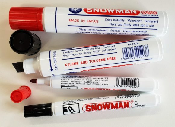 SNOWMAN Jumbo permanent markers – broad tip