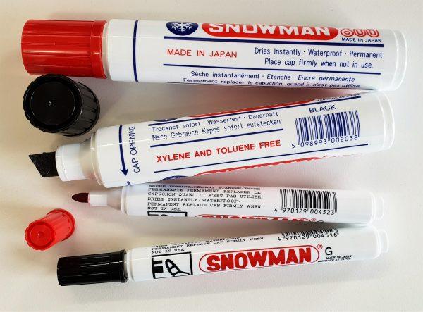 SNOWMAN Jumbo permanent markers - broad tip