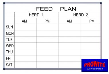 PRO-ETCH Feed Plans and Milking Rosters