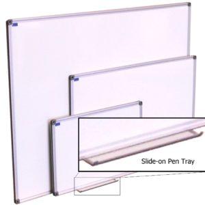 Full-length pen tray