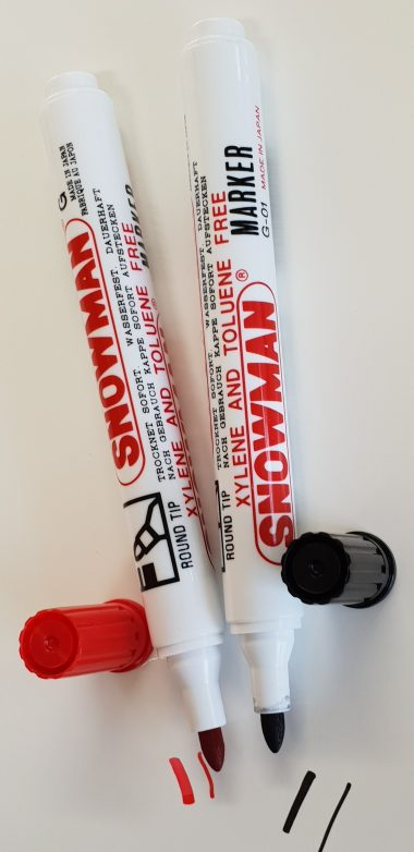 SNOWMAN Permanent markers - bullet tip