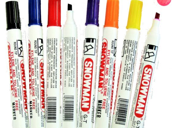 SNOWMAN  Permanent markers – chisel tip