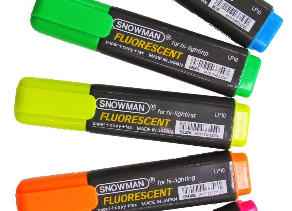 SNOWMAN Highlighter markers