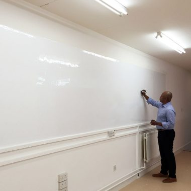 Smarter Surfaces writable wall - expand your creative space