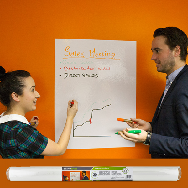Smart Whiteboard sheets used in office - quick sales meeting
