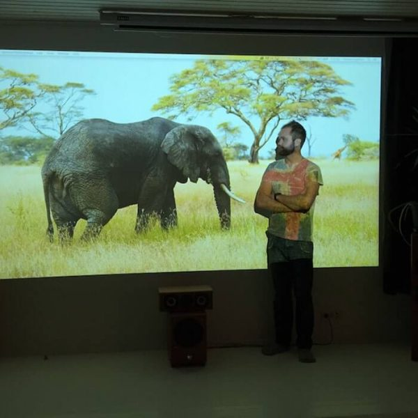 smart projector paint in use