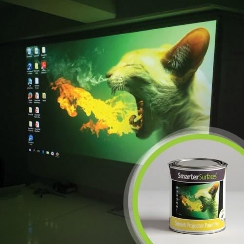 Smarter Surfaces projector wall - simple and economical screens, anywhere,any size